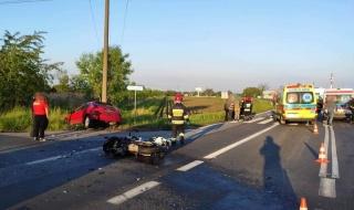 Groźny wypadek na drodze krajowej nr 91. Dwie osoby ranne, droga jest zablokowana