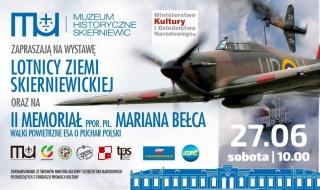 """Wkrótce wystawa """"Lotnicy Ziemi Skierniewickiej"""" i II Memoriał ppor Bełca"""