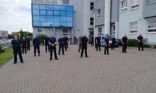 Policjanci ze Zduńskiej Woli włączyli się do akcji #GaszynChallenge